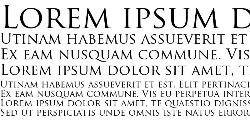 Graphic Trajan Pro Regular Lorem Ipsum Sample